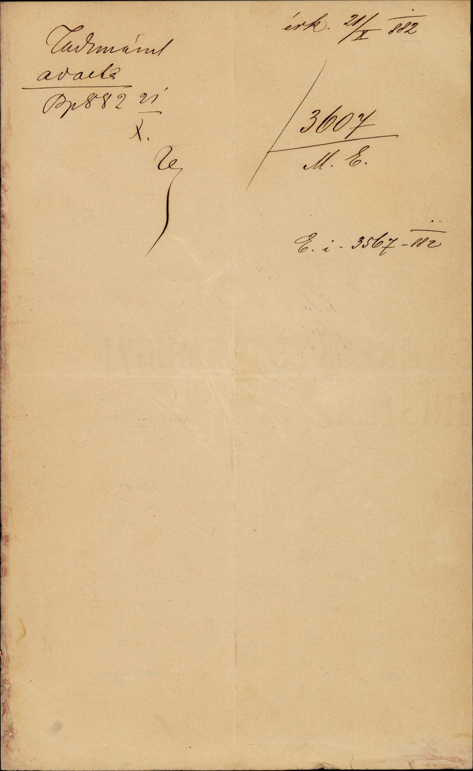 Széchényi Pál Tisza Kálmán miniszterelnöknek állása elfoglalásáról, Budapest, 1882. október 18.